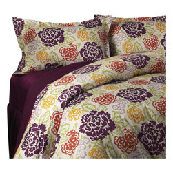 Jennifer Taylor Home - Queen 3 Pc Set, 1xDuvet - Summertime 3 PCS Queen Duvet Set