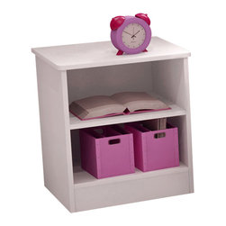 South Shore - South Shore Libra Kids Nightstand in Pure White - South Shore - Kids Night Stands - 3050059 - The Libra Nightstand is constructed from laminated engineered wood in a pure white finish. It features an open storage compartment with one adjustable shelf and rounded corners for maximum safety. With a contemporary style and simple lines the practical and functional Libra Nightstand is the perfect companion along side your kid's bed.Features: