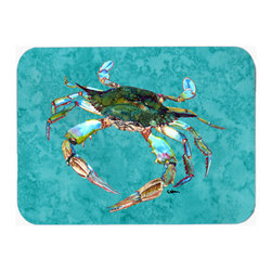 Caroline's Treasures - Crab Kitchen Or Bath Mat 20X30 8657 - Kitchen / Bath Mat 20x30 - 20 inches by 30 inches. Permanently dyed and fade resistant. Great for the Kitchen, Bath, outside the hot tub or just in the door from the swimming pool.    Use a garden hose or power washer to chase the dirt off of the mat.  Do not scrub with a brush.  Use the Vacuum on floor setting.  Made in the USA.  Clean stain with a cleaner that does not produce suds.