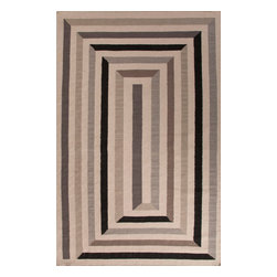 Jaipur Rugs - Flat-Weave Geometric Pattern Wool Gray/Ivory Area Rug ( 4x6 ) - En Casa is the design collection of Cuban born, Queens, NY raised painter and surface designer, Luli Sanchez. This collection is based off of her painterly works of art that capture an organic and moody yet optimistic spirit. Her geometric paintings were truly inspiring for this flatweave collection.