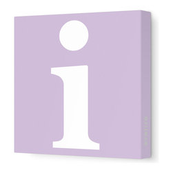"Avalisa - Letter - Lower Case 'i' Stretched Wall Art, 12"" x 12"", Lilac - Spell it out loud. These lowercase letters on stretched canvas would look wonderful in a nursery touting your little one's name, but don't stop there; they could work most anywhere in the home you'd like to add some playful text to the walls. Mix and match colors for a truly fun feel or stick to one color for a more uniform look."