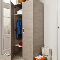 didit click furniture 2-Door Wardrobe - A stylish bedside companion the didit clic furniture Bedside Table is just the right size ultra stylish and has a DIY assembly that's a snap. It's well-built of wood laminate to be sturdy yet has a sleek modern look. Its innovative design assembles with a few simple clicks and the Italian walnut finish gets attention. Two open cubbies plus a spacious top make it perfectly functional. About UnilinUnilin for smart living. Unilin is 50-year-old company based in Belgium that is part of the American Mohawk Industries Inc. Unilin creates a variety of home products including flooring division panels and insulation. From the start they have focused on discovering ways to utilize sustainable products recycle and maximize green activities. Unilin stands for (r)evolution. They innovate by investing in design research and development and the latest technologies. Unilin aims to create top-quality home products that are as beautiful as they are convenient.