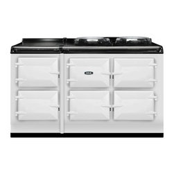 AGA Total Control 5 Oven Range Cooker, White   ATC5-WHT - The new TC5, the latest model in the Total Control series, brings you five large cast iron ovens, two hotplates and a warming plate to deliver incredible capacity and flexibility.