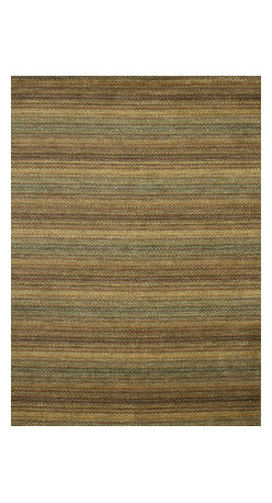 """Loloi Rugs - Loloi Rugs Frazier Collection - Desert, 5' x 7'-6"""" - Hand-loomed in India of 100-percent wool, the new Frazier celebrates bold colors in an attractive multi-stripe design. A pile and loop construction adds textural dimension to this highly salable series."""