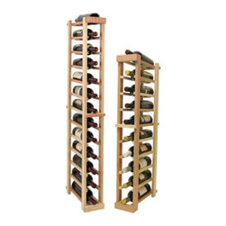 Wine Cellar Innovations - Vintner Series Wine Rack - Individual Bottle Wine Racks - 1 Column - Each wine bottle stored on this one column individual bottle wine rack is cradled on customized rails that are carefully manufactured with beveled ends and rounded edges to ensure wine labels will not tear when the bottles are removed. Purchase two to stack on top of each other to maximize the height of your wine storage. Moldings and platforms sold separately. Assembly required.