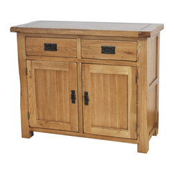 None - Gallerie Decor Oakdale 2-drawer 2-door Cabinet - This Oakdale furniture is made of solid oak,produced with the finest cuts to provide strength and sturdiness for years of use and enjoyment. Skilled craftsmen have paid attention to every detail,providing quality and convenient storage space.