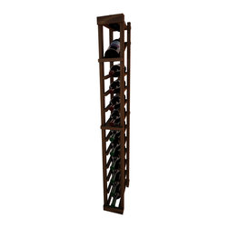 Wine Cellar Innovations - 1 Column Individual Bottle Wine Rack with Display Vintner Series, Dark Walnut St - Each wine bottle stored on this one column individual bottle wine rack is cradled on customized rails that are carefully manufactured with beveled ends and rounded edges to ensure wine labels will not tear when the bottles are removed. This wine rack also has a built in display row. Purchase two to stack on top of each other to maximize the height of your wine storage. Moldings and platforms sold separately. Assembly required.