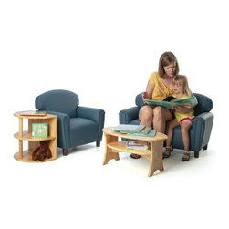 Brand New World Enviro-Child Upholstered Preschool Living Room Set - Embellishing your classroom decor has never been easier with the Brand New World Enviro-Child Upholstered Preschool Living Room Set. This four-piece set comes with a sofa, chair, end table, and coffee table; all in sizes perfect for preschoolers. Both tables are constructed of durable hardwood while the chair and sofa are constructed of polyurethane with a finish of antimicrobial to inhibit the growth of bacteria and viruses. This set comes in your choice of kid-friendly finish. Some assembly required.About Brand New WorldAn affiliate of U.S. Worldwide, Inc., Brand New World believes that through the wonderful pleasure of play, young children's lifelong learning begins. Based on these beliefs, and with the guidance of early childhood experts, Brand New World develops products that meet the needs of early childhood children, teachers, and classrooms. Along with meeting safety guidelines set by the CPSC, ASTM, CA117, and CPSIA, Brand New World's products consist of top-quality materials that are of the highest quality, yet are fun and affordable.