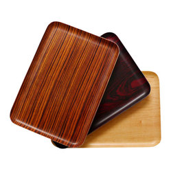 Landscape Products - Wood Fabric Tray - Breakfast in bed? Drinks on the terrace? Yes and yes! You've got just what you need and you've got it with style. These trays have the look of rosewood, zebrawood or maple … except they're made of laminated fabric — a cost-conscious and beautiful way to carry on.