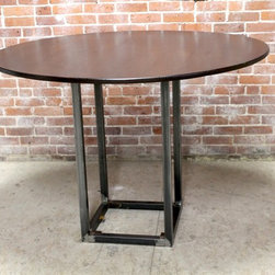 Round Bistro Table - 54inch round bistro table with steel base
