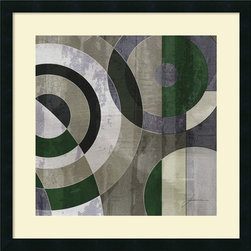 Amanti Art - James Burghardt 'Concentric Squares IV' Framed Art Print 25 x 25-inch - James Burghardt contemporary design of Concentric Squares IV will add the perfect pop of purple to your modern decor.