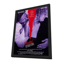 Fatal Attraction 11 x 17 Movie Poster - Style A - in Deluxe Wood Frame - Fatal Attraction 11 x 17 Movie Poster - Style A - in Deluxe Wood Frame.  Amazing movie poster, comes ready to hang, 11 x 17 inches poster size, and 13 x 19 inches in total size framed. Cast: Michael Douglas
