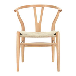 Inova Team -Modern Beech Wood Chair - Marrying spartan natural wood with modern design, this Woven Shaker Chair makes a great match with a rustic harvest table or modern dining table. The tightly woven seat and simple, sturdy foundation make the chair a must-have for any modern home