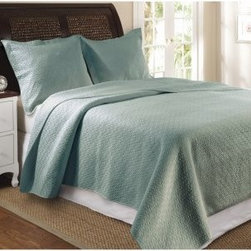 Greenland Home Fashions Vashon - 2 Piece Quilt Set - Slate Blue - About Greenland Home FashionsFor the past 16 years, Greenland Home Fashions has been perfecting its own approach to textile fashions. Through constant developments and updates - in traditional, country, and forward-looking styles – the company has become a leading supplier and designer of decorative bedding to retailers nationwide. If you're looking for high quality bedding that not only looks great but is crafted to last, consider Greenland.