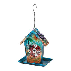 Regal Art & Gift - Ladybug Birdhouse Solar Lantern - This charming birdhouse boasts a colorful design and solar panel to create a dazzling light-up display day and night.   8.5'' W x 10.75'' H x 6'' D Metal / glass / solar Imported