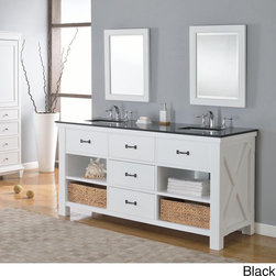 Direct Vanity Sink - 70-inch Pearl White Xtraordinary Spa Double Vanity Sink Cabinet - This is the pinnacle of furniture style bath vanity cabinet. It combines the casual feel of a cabin,to the functionality demanded in an urban environment.
