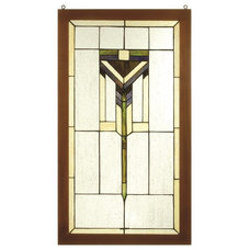 Craftsman Stained Glass Panels by Arcadian Home & Lighting