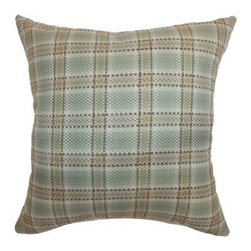The Pillow Collection Wacian Plaid Pillow - Aqua Brown - Bring out a touch of texture and visual drama with The Pillow Collection Wacian Plaid Pillow - Aqua Brown. This charming accent pillow features a cover of 100-percent cotton and a 95/5 feather/down insert that is soft, comfortable, and easy to relax with. Its plaid pattern in brown and blue works well with a variety of décor settings. Dry clean only.About The Pillow CollectionIdentical twin brothers Adam and Kyle started The Pillow Collection with a simple objective. They wanted to create an extensive selection of beautiful and affordable throw pillows. Their father is a renowned interior designer and they developed a deep appreciation of style from him. They hand select all fabrics to find the perfect cottons, linens, damasks, and silks in a variety of colors, patterns, and designs. Standard features include hidden full-length zippers and luxurious high polyester fiber or down blended inserts. At The Pillow Collection, they know that a throw pillow makes a room.