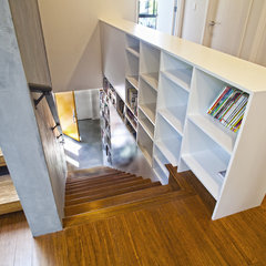 contemporary staircase by Elemental Design, LLC