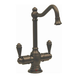 Whitehaus - Forever Hot Instant Water Dispenser Faucet w - Color: Oil Rubbed BronzePictured in brushed nickel. Self closing hot water handle. Fits counter tops up to 2.25 in.. Can be used with wh-tank only. 5.5 in. W x 6.88 in. H (3 lbs.). Warranty