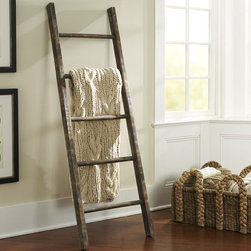 PB Prop Collection Rustic Ladder - Storage goes vertical with this rustic ladder. Hang up blankets, clothing, coats or anything you'd like while saving on floor space.