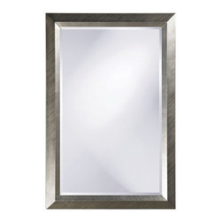 Howard Elliott - Avery Large Silver Mirror - Our Avery mirror features a simple rectangular frame finished in a bright silver leaf with a brushed texture.