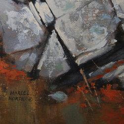Marcel Bordei, Ready For Snow (Longhorn Rams), Oil Painting - Artist:  Marcel Bordei