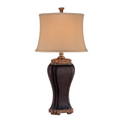 "Ambience - Ambience AM 10620 Asian Style ""Urn"" Table Lamp, Finished in Coffee Brown - Ambience AM 10620 Asian Style ""Urn"" Table Lamp, Finished in Coffee BrownAmbience AM 10620 Features:"