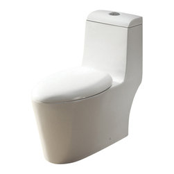 Ariel - Ariel CO1042 Royal Dual Flush Toilet 29x14x30 - Ariel cutting-edge designed one-piece toilets with powerful flushing system. It's a beautiful, modern toilet for your contemporary bathroom remodel.