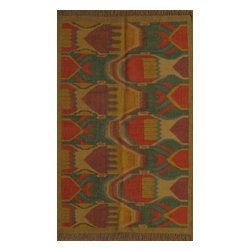 Rugsville - Rugsville Rug Southwestern 13643-46 Green Gold - There are some abstract patterns that will go well along your modern home decor. You may even want to get some of these carpets for your living room and spacious places. There are different choices in colors, sizes and shapes as well. 100% Natural wooland Jute. Extremely durable for high traffic areas. Meticulously woven flat-weave rug handmade in India. Made by skilled artisans in the villages of North Central India with careful attention given to the pattern detailing.