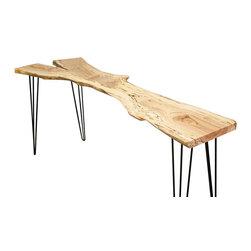 elpis&wood - Live Edge Elm Console - Live Edge Furniture and Decor