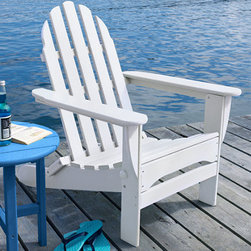 All-Weather Adirondack Chair - Looking for outdoor furniture with zero maintenance but not willing to sacrifice on good looks and style? This all-weather adirondack chair will not warp, crack, splinter, or absorb moisture and will never need painting.