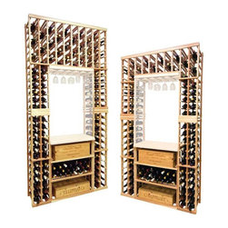 Wine Cellar Innovations - Vintner Series - Individual Bottle with Lower Case Rack - The Vintner Series individual bottle wine rack kit with lower case rack is sold to be compatible with the Vintner Archway & Table Top option, or the Vintner Glass Rack and Table Top Option. This wine racking module consists of all the above and below individual wine bottle racking for the unit as pictured. Please note that there is only an 8 Ft & a 7 Ft Option available for this unit. The 8 Ft Option is compatible with stacking double 4 Ft Options, and the 7 Ft Option is compatible with stacking 4Ft Options on the bottom, and 3Ft Options above. Archway & Table Top, & Glass Rack and Table Top kits sold separately. Moldings and platforms sold separately. Assembly required.