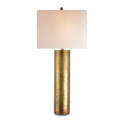 Currey & Co - Currey & Co 6504 Constable Vintage Brass Table Lamp - 1 Bulb, Bulb Type: 150 Watt Edison; Weight: 10lbs