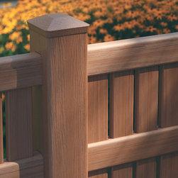 Bufftech Imperial Select Cedar Semi Private Vinyl Fence - Certainteed Bufftech