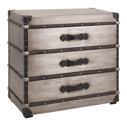 iMax Corporation - Baker Aluminum Clad 3-Drawer Trunk - Find home furnishings, decor, and accessories from Posh Urban Furnishings. Beautiful, stylish furniture and decor that will brighten your home instantly. Shop modern, traditional, vintage, and world designs.