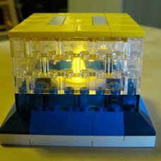 The Lego Nightlight LED Candle HolderFree Paul the DJ by rocewrek