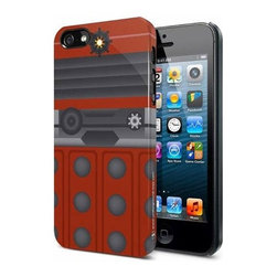 KOOLEKOO - Doctor Who iPhone 5 Hard Cover - Oh no! Your phone have been transformed into one of the Daleks! Call Doctor Who, he'll protect you and fix your phone! Trust him! He's the protagonist of Doctor Who, after all, and things tend to go his way. This Doctor Who Another Dalek Red iPhone 5 Hard Cover has been designed for the iPhone 5 and will make your phone look like a red Dalek. Durable and secure, this stylish phone cover simply slips on for easy use with a firm fit for effective grip and protection without bulk. This fantastic case is fitted and you still have access to all of the touch controls and dock connector!