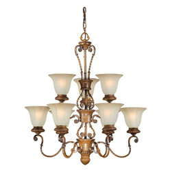 Talista - Talista Chandeliers 9-Light Rustic Sienna Chandelier with Umber Glass Shade - Shop for Lighting & Ceiling Fans at The Home Depot. The Burton Collection supplied by CLI features a wide variety of classic fixtures. If you are looking for a sensible way to dress up a room there is no better choice than this 9-Light Chandelier in a Rustic Sienna Finish complimented by Shaded Umber Glass. From the modest chandeliers to the more rustic outdoor lighting the Burton Collection will add a charming accent to any application.