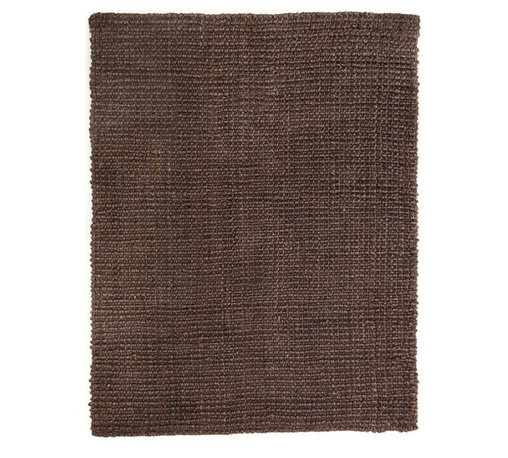 Anji Mountain - Everest Chocolate Jute Rug - 4' x 6' - Jute brings a magnificent, chunky texture to any space. These rugs are expertly handloom-woven by skilled weavers who employ a variety of traditional techniques to create these simply beautiful styles. Jute fibers exhibit naturally anti-static, insulating and moisture regulating properties. It is predominantly farmed by approximately four million small farmers in India and Bangladesh and supports hundreds of thousands of workers in jute manufacturing (from raw material to yarn and finished products).