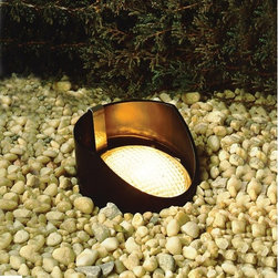 Kichler Lighting - 15388 Low Voltage PAR36 Yoke Held In-Ground Well Light - Versatile design with reversible support sleeve to accommodate uplighting when flush mounted or angled lighting effects when semi-recessed.