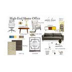 High-End Home Office Decor Idea Board - Decor Idea board - High-End Home Office Gender Neutral by Miami Interior Decorator Ana Damaris Then, White Linen Interiors LLC.