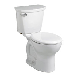 "American Standard - American Standard 215D.A104.020 Cadet Pro Elongated 12"" Rough Toilet, White - American Standard 215D.A104.020 Cadet Pro Elongated 12"" Rough Toilet, White. This vitreous china constructed elongated toilet meets EPA WaterSense criteria, a trade-exclusive tank, a PowerWash rim that scrubs the bowl with each flush, a robust metal left-sided trip lever/metal shank fill valve assembly, an EverClean surface, a 4"" piston-action Accelerator flush valve, a 12"" Rough-in, a chrome finish trip lever, and a fully-glazed 2-1/8"" trapway."