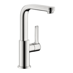 Hansgrohe - Hansgrohe 31161001 Metris S Single Hole Tall in Chrome - Single Hole Tall in Chrome belongs to Metris Collection by Hansgrohe This Hansgrohe Metris S Single Hole 1-Handle Mid-Arc Bathroom Faucet in Chrome offers plenty of clearance with a mid-arc spout to make cleanup and operation easy. The single-handle fixture functions smoothly and rises to meet your needs. A sleek chrome surface helps this faucet weather everyday use to retain its shine.  Faucet (1)