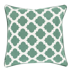 Lattice Tile Throw Pillow in Green - Relax in style with this graphic, boho tile-inspired throw pillow. Its patterned motif gives any room a hint of modern romance and global design.