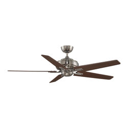 Fanimation - FPD8088PW-NL Keistone 5 Blade Ceiling Fan, Pewter - Modern Contempo Ceiling Fan in Pewter from the Keistone Collection by Fanimation.