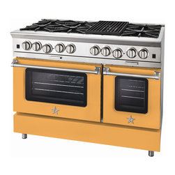 "BlueStar Platinum Series: 48"" Range - BlueStar 48"" Platinum Range in Maize Yellow (RAL 1006)"