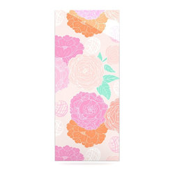 """Kess InHouse - Anneline Sophia """"Peonies Pink"""" Peach Teal Metal Luxe Panel (9"""" x 21"""") - Our luxe KESS InHouse art panels are the perfect addition to your super fab living room, dining room, bedroom or bathroom. Heck, we have customers that have them in their sunrooms. These items are the art equivalent to flat screens. They offer a bright splash of color in a sleek and elegant way. They are available in square and rectangle sizes. Comes with a shadow mount for an even sleeker finish. By infusing the dyes of the artwork directly onto specially coated metal panels, the artwork is extremely durable and will showcase the exceptional detail. Use them together to make large art installations or showcase them individually. Our KESS InHouse Art Panels will jump off your walls. We can't wait to see what our interior design savvy clients will come up with next."""