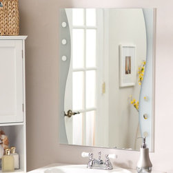 Decor Wonderland - Frameless Maritime Wall Mirror - 23.5W x 31.5H in. Multicolor - SSM182 - Shop for Bathroom Mirrors from Hayneedle.com! The Frameless Maritime Wall Mirror brings fun contemporary style to your home. This stunning rectangular mirror is sure to add elegance and sophistication to any wall in your home. Constructed of metal and strong 3/16 glass it features a wave-shaped design and an etched design border created with a fine precise manufacturing process. Mounting hardware is included with the mirror. Weighs 14 pounds. Dimensions: 31.5L x 23.5W x .5D inches.