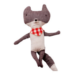 maileg - Wolf With Scarf Doll - This cute wolf has lovely details and is ready to cuddle!
